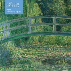 1000-piece Jigsaw Puzzles: Adult Jigsaw Puzzle National Gallery Monet: Bridge over Lily Pond : 1000-piece Jigsaw Puzzles (Jigsaw)