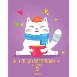 Cute Cats Coloring Book for Kids ages 2 years old: Cute Cats Coloring books for girls and kids with 40 designs, best relaxing coloring and activities book for girls and kids, cool cats, lovely cats (8