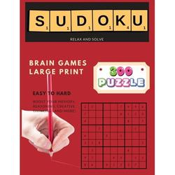 300 Sudoku Puzzle Relax and Solve: Funster Sudoku Puzzles Easy to Hard & Large Print Puzzle Book For Adults - 4 Puzzle Per Page (Puzzles & Brain Games for Adults) (Paperback)