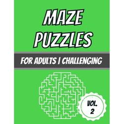 Series: Maze Puzzles for Adults by Dabini G.: Maze Puzzles : For Adults - Challenging - 100 Puzzles With Solutions (Series #2) (Paperback)