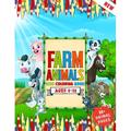 Farm Animals: A Kids Coloring Book Ages 6 To 12 Who Love Farm And Animals Like - Cows, Goat, Rabbit, Duck, Pigs, Chickens, Horse, Llamas And Many More 50+ Farm Animals Collections For Kids (Paperback)