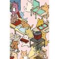 """Poetose Press Literary Creatures Notebook: Literary Binder Cats 4x6"""" Field Journal / Field Notebook / Field Book / Memo Book / Pocket Notebook (100 pages/50 sheets) (Paperback)"""
