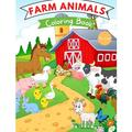 Farm Animals Coloring Book: For Kids ages 4-8 Farm Animal Coloring Book for Toddlers Farm Animal Books for Kids Easy Level for Fun and Educational Purpose Farm Animal Books for Kindergarten (Paperback