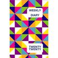 Weekly Diary Twenty Twenty: 6x9 week to a page 2020 diary planner. 12 months monthly planner, weekly diary & lined paper note pages. Perfect for teachers, students and small business owners. Abstract
