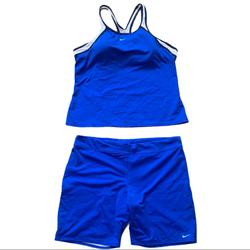 Nike Tops | Nike Blue Tank Top And Matching Short Set Size 16 | Color: Blue/White | Size: 16