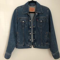 Levi's Jackets & Coats | Levis Denim Jacket Snap Front Jean Jacket Medium | Color: Blue | Size: M