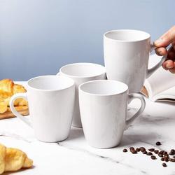 MingshanAncient Coffee Mugs, Set Of 4, 12Oz, Coffee Mug Set, Christmas Coffee Mugs, Hot Chocolate Mugs, Ceramic Mugs, Large Mugs For Coffee in White
