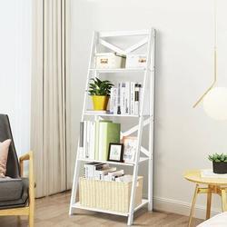 Latitude Run® 4-Tier Wood Display Storage Bookshelf Wood in White, Size 56.3 H x 20.0 W x 18.1 D in | Wayfair 1B265704781F4A5993B1F28A2E77E8F1