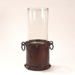 Williston Forge Manor Candle Holder Aqua Glass Hurricane, Size 16.0 H x 6.0 W x 6.0 D in | Wayfair 636EF0A958394C5890CDBFFCD9F53C27