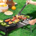 ATS Charcoal Grill,Portable Barbecue Grill Folding BBQ Grill,Small Barbecue Grill,Outdoor Grill Tools For Camping Hiking Picnics Traveling | Wayfair