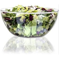 Prep & Savour Large Clear Plastic Mixing & Serving Bowls, Popcorn Bowls, Salad Bowls, Chip & Dip Serving Bowls Porcelain China/All Ceramic in White