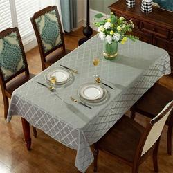 Red Barrel Studio® Jacquard Tablecloth Flower Pattern Polyester Table Cloth Spill Proof Dust-Proof Wrinkle Resistant Table in Gray | Wayfair