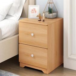 Latitude Run® Storage Cabinet Bedroom Bedside Locker Double Drawer Nightstand Wood in Brown/White, Size 17.72 H x 12.6 W x 11.81 D in   Wayfair