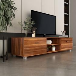 Latitude Run® TV Stand For 70 Inch TV Stands, Media Console Entertainment Center Television Table in Brown, Size 14.17 H x 63.0 W x 15.74 D in