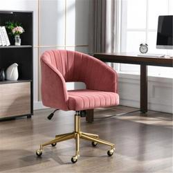 Mercer41 Home Office Task Chair Wheels, Upholstered Home Office Desk Modern Swivel Accent Chair,chair, Office Chair, Swivel Chair () Upholstered