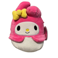 Squishmallows Official Kellytoy 7 Inch My Melody Helly Kitty Sanrio Super Soft Plush Toy