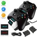 TSV Controller Charging Dock Station Compatible with Xbox Series Controller and Xbox One Wireless Controller w/ 2 Rechargeable Battery Pack 2400mAh, Dual Charging Dock for Xbox Controller