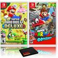 New Super Mario Bros. U Deluxe + Super Mario Odyssey - Two Game Bundle - Nintendo Switch