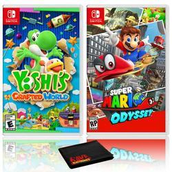 Yoshi's Crafted World + Super Mario Odyssey - Two Game Bundle - Nintendo Switch