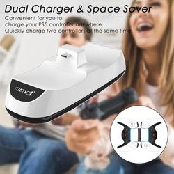 PS5 Controller Charger, Joso Portable Charging Station Dock, Dual USB Fast Docking Station Charge Stand for Sony Playstation 5 DualSense with LED Indicator Lights