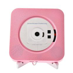 CD Player Wall Mountable Bluetooth Home Audio with Remote Control Built-in HiFi Speakers USB MP3 3.5mm Headphone Jack AUX Input Output Prenatal Early Educational English Learning Bluetooth CD Player
