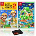 Super Mario Maker 2 + Yoshi's Crafted World - Two Game Bundle - Nintendo Switch