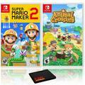 Super Mario Maker 2 + Animal Crossing: New Horizons - Two Game Bundle - Nintendo Switch