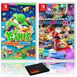 Yoshi's Crafted World + Mario Kart 8 Deluxe - Two Game Bundle - Nintendo Switch