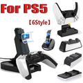 PlayStation 5/4 Dual Controller Charger Station Dock with Fast Charging USB C Compatible with PS5 PS4 Controllers(6style)
