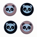 JenDore Black & Pink Panda 4Pcs Silicone Thumb Grip Caps for Nintendo Switch Pro Controller / PS4 Controller / Xbox 360 Controller