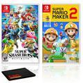 Nintendo Super Smash Bros. Ultimate Bundle with Super Mario Maker 2
