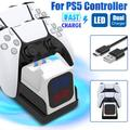Charging Dock for PS5 Wireless Controller Charging Station Dock Stand Replacement, TSV USB Dual Docking Station Compatible with PlayStation 5 PS5 Controller 5V/1.5A Fast Charger with LED Indicator