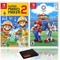 Super Mario Maker 2 + Mario and Sonic at the Olympic Games Tokyo 2020 - Two Game Bundle - Nintendo Switch
