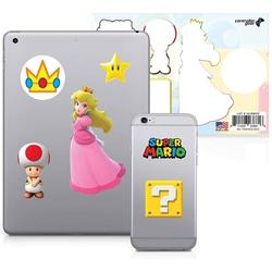Controller Gear Officially Licensed Super Mario - Character Tech Decal Pack - Peachs Kingdom - Nintendo Wii; GameCube