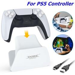 Game Controller Holder for PS5, Controller Display Stand, EEEkit Video Game Controller Accessories with Type-C Charging Cable, Wireless Controller Holder for PS5 Controller