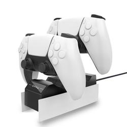 Elegant Choise PS5 Controller Charger Station Dock,USB Type C Fast Portable Charger Charging Station Dock Stand for Playstation 5 Wireless Controller,Dual Type C Charging Ports,PS5 Accessories,White