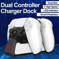 Controller Charging Charger Station for PS5 Controller, TSV Dual Controller Charging Charger Compatible with PlayStation PS5 Docking Station, Fast USB Charging Station with LED Indicator