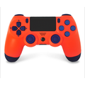New Wireless Controller for PS4- Wireless Controller, PS4 controller, PS4 console/computer universal controller, Support 3 ways of Bluetooth/computer wireless/wired connection(Orange)