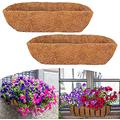 SYWEI Window Boxes Planters Horse Trough Planter Flat Iron Series Planter Boxes Metal Wall-Mounted Shaped Planter Basket Window Box Garden Decoration for Outdoor,24-Inch (Size : 2pack Liner)