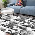 Soft Area Rugs for Bedroom Ferocious Bears Infested Silhouette in Pine Forest Washable Rug Carpet Floor Comfy Carpet Kids Play Mats Runner Rug for Floor Accent Home Decor-