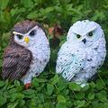 Niguleser Owl Garden Decoration 2 Pieces owl Statues Outdoor Garden owl Patio owl Decor owl Lawn owl Yard owl