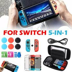 Everso Carrying Case and Screen Protector for Nintendo , Portable Carrier Travel Bag Case Set, 14 in 1 Accessories Kit with Earphone, Foldable Stand, Type-C Charging Cable, Games Storage Case,etc