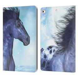 Head Case Designs Officially Licensed Simone Gatterwe Horses Wild Leather Book Wallet Case Cover Compatible with Apple iPad 9.7 2017 / iPad 9.7 2018