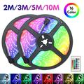 LED Strip Lights, 6.6/9.8/16.4/32.8Ft RGB Color Changing LED Lights Strip, 2835 Flexible LED Tape Light with Remote Controller, Ideal for Bedroom Home and Holiday Decoration