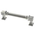 "Liberty P38758C-SN 3 3/4"" Regal Square Cabinet & Drawer Pull Satin Nickel"
