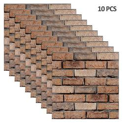 Stone Brick Wallpaper Peel and Stick Wallpaper Cleanable 3D Brick Wallpaper Self Adhesive Wallpaper Countertop Removable Wallpaper for Home Decoration Stone Brick Wallpaper