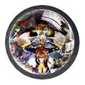 My Hero Academia MHA Poster 4 Pack 1.18 Inch Kitchen Cabinet Knobs Drawer Knobs Dresser Knobs Crystal Glass Knobs Drawer Pulls Door Knobs Dresser Drawer Handles Knobs for Dresser Drawers