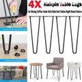 "22"" Coffee Table Metal Hairpin Legs Solid Iron Bar Black Set of 4 PCS"