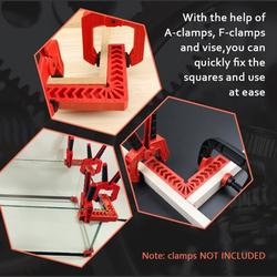 Aibecy 90 Degree Positioning Squares DURA 4 Pcs Right Angle Clamp Woodworking Carpenter Corner Clamping Square Tool for Picture Frames Boxes Cabinets Drawers