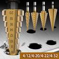 Willstar 4-12/20/22/32 Mm HSS Step Drill Bit Golden Drilling Power Tools for Metal High Speed Steel Wood Hole Cutter Step Cone Drills
